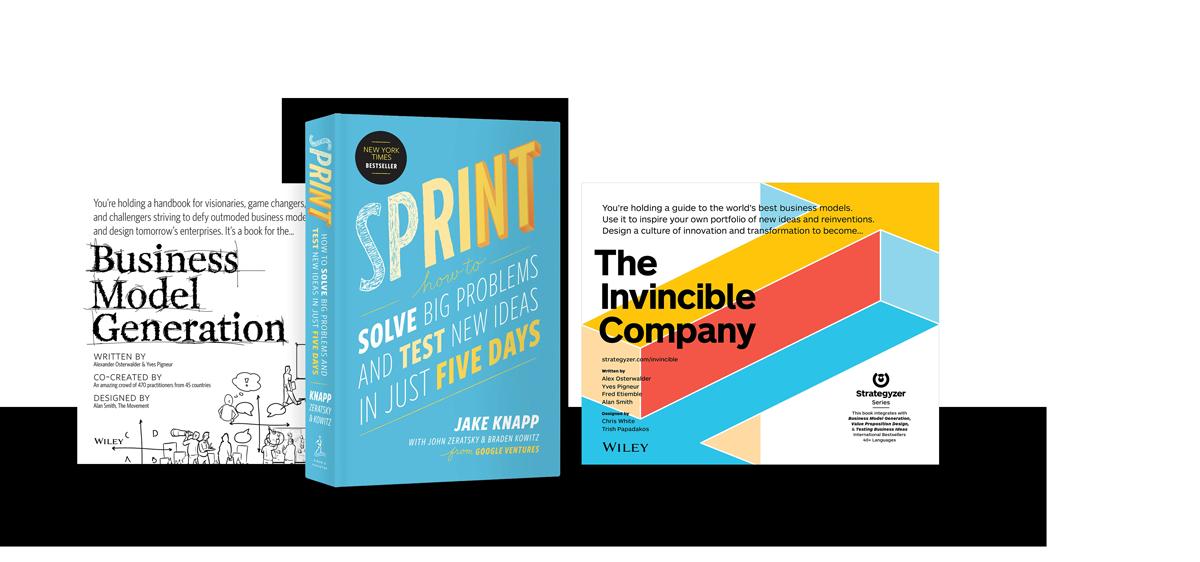 Jake Knapp, Alex OSterwalder and Yves Pigneur are bestselling authors